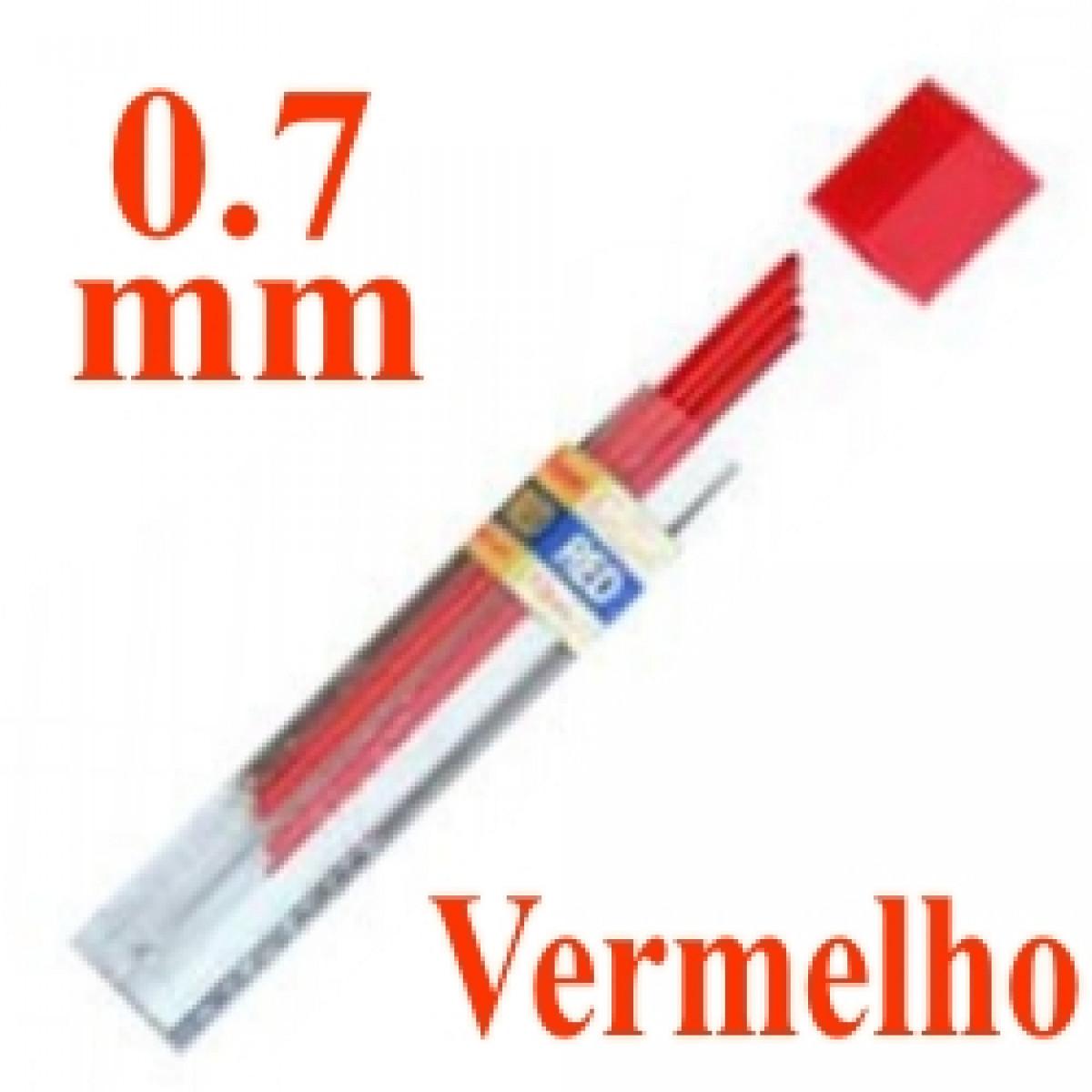 f8fe54709 Mina Grafite Pentel 0.7mm Vermelho