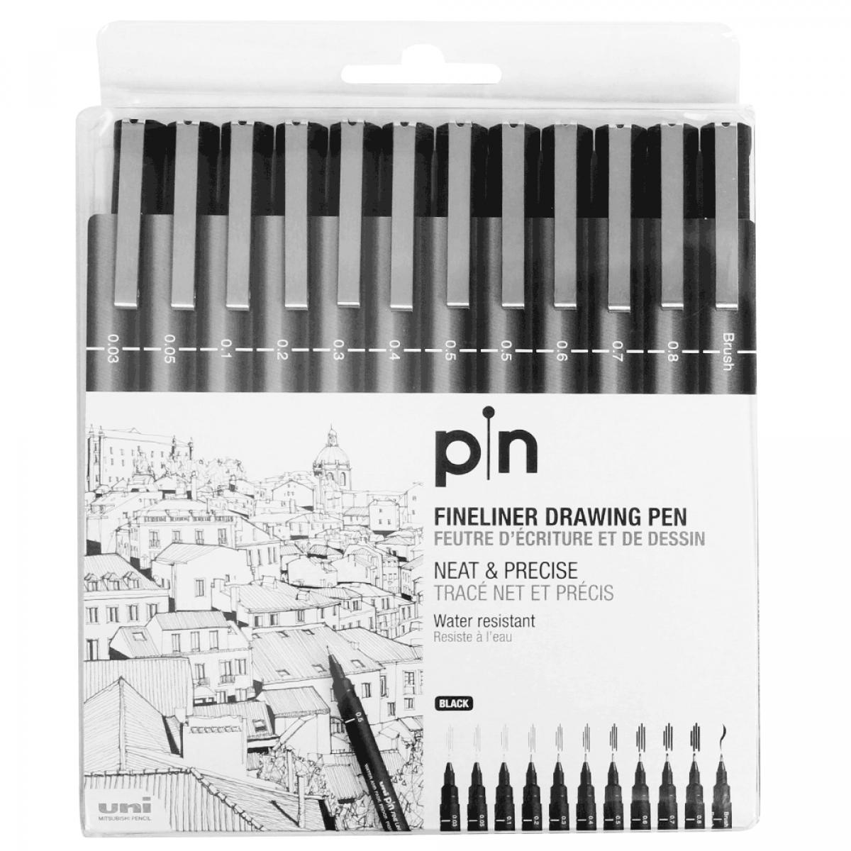 Estojo caneta nankin uni pin 12 unidades estojo caneta nanquim uni pin 200 uni ball 12 pontas stopboris Gallery