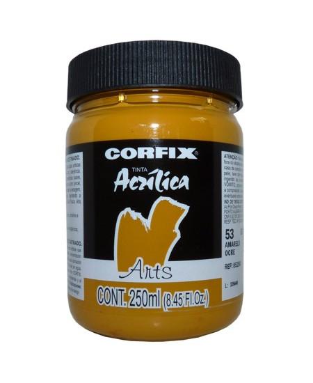 Tinta Acrílica Fosca Corfix Arts 250ml  53 Amarelo Ocre G1