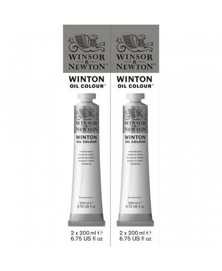 Tinta Óleo Winton 200ml Winsor & Newton Titanium White 2 Unidades