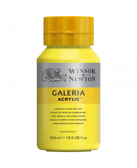 inta Acrílica Galeria Winsor & Newton 500ML 114 Cadmium Yellow Pale Hue