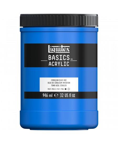 Tinta Acrílica Liquitex Basics 946ml 470 Cerulean Blue Hue