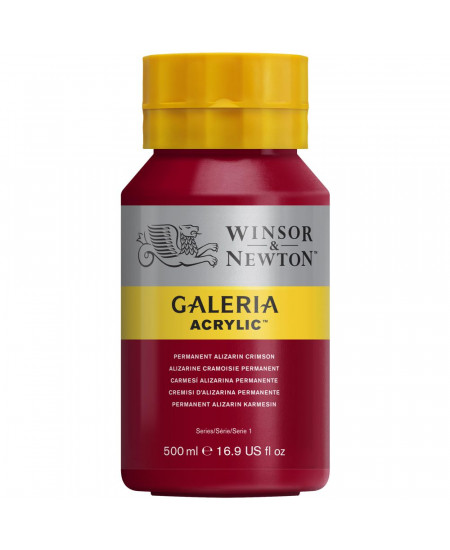 Tinta Acrílica Galeria Winsor & Newton 500ML 466 Permanent Alizarin Crimson