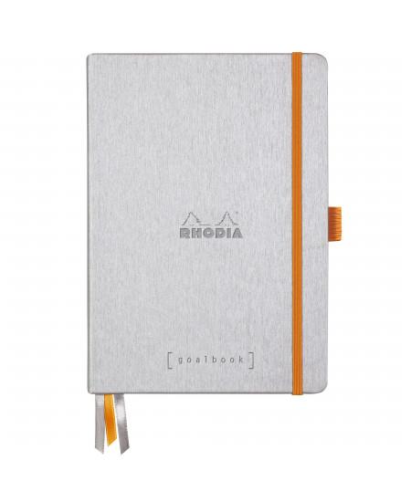 Caderno Goalbook Rhodia A5 Capa Dura Silver