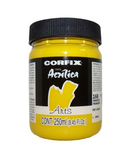 Tinta Acrílica Fosca Corfix Arts 250ml 168 Amarelo Primário G1