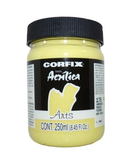 Tinta Acrílica Fosca Corfix Arts 250ml 175 Amarelo N. Titânio G2