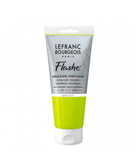 Tinta Acrílica Flashe Lefranc & Bourgeois 80ml S3 163 Fluorescent Yellow