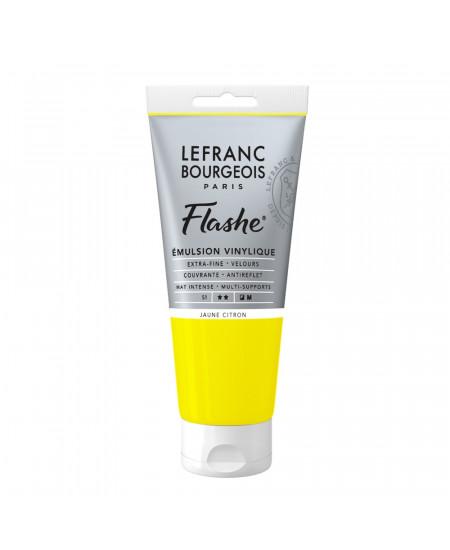 Tinta Acrílica Flashe Lefranc & Bourgeois 80ml S1 169 Lemon Yellow
