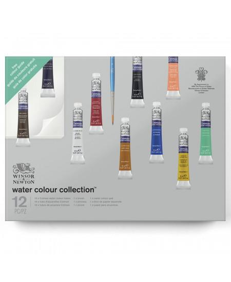 Tinta Aquarela Winsor & Newton Cotman Collection 12 Peças