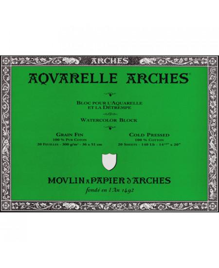 Bloco de Papel Para Aquarela Arches Canson TF 300g/m² 36x51cm