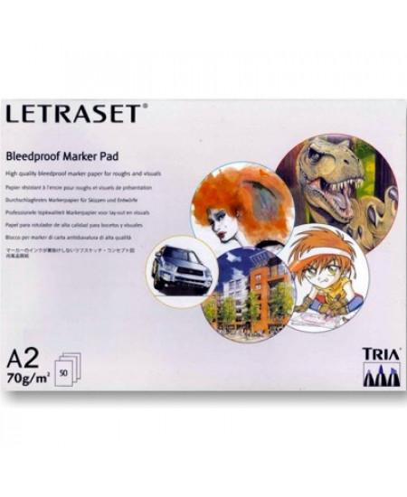 Bloco Para Marcador Bleedproof LetraSet A2 70g/m² 50 Folhas