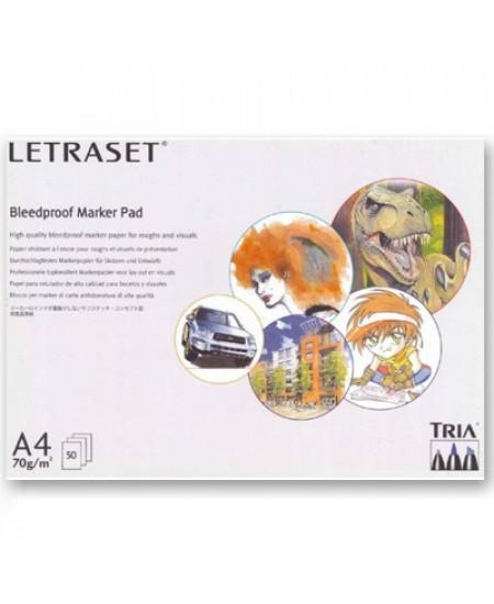 Bloco Para Marcador Bleedproof LetraSet A4 70g/m² 50 Folhas