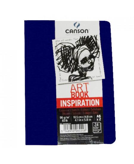 Caderno Para Sketch ART BOOK Inspiration Canson A6x2 Azul