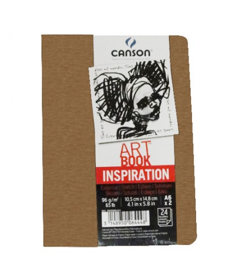 Caderno Para Sketch ART BOOK Inspiration Canson A6x2 Marrom