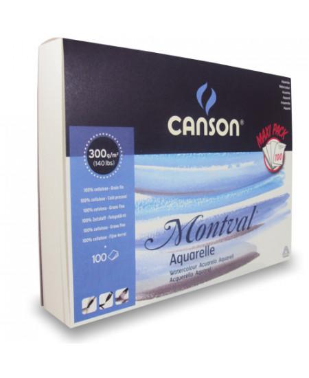 Bloco de Papel Para Aquarela Montval Max Pack Canson A4+ 300g/m²