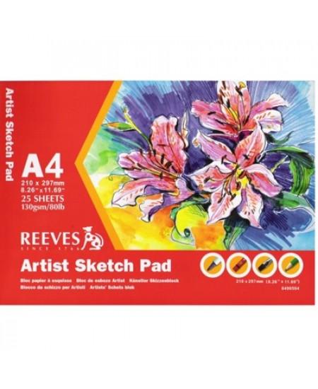 Bloco Para Esboço Sketch Reeves A4 130g/m²