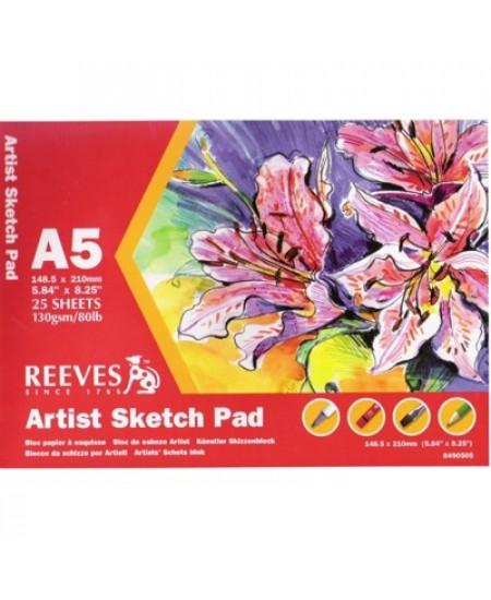 Bloco Para Esboço Sketch Reeves A5 130g/m²