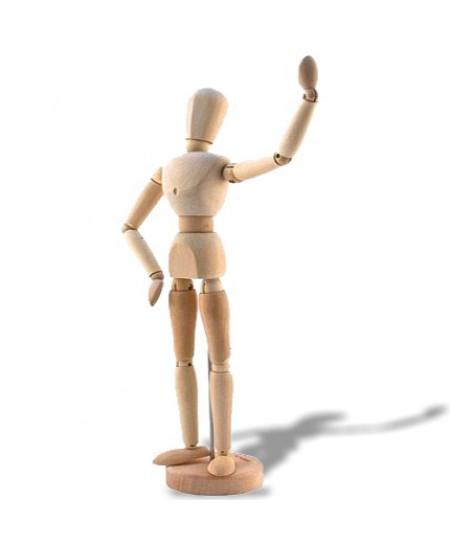 Manequim Articulado Feminino 30 cm SFM019