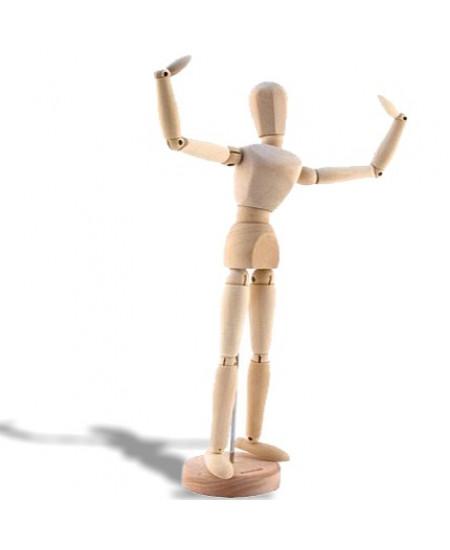 Manequim Articulado Masculino 30 cm SFM018