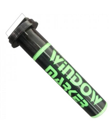 Marcador Para Vidro Window Marker Verde Fluorescente