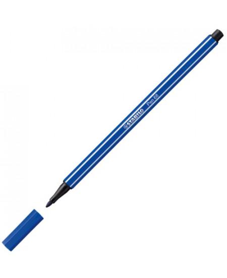 Caneta Stabilo Pen 68 22 Azul Marinho