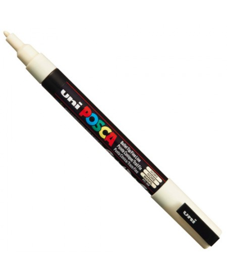 Caneta Posca Uni Ball PC-3M Marfim