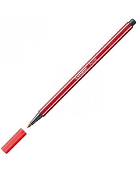 Caneta Stabilo Pen 68 50 Vermelho Escuro