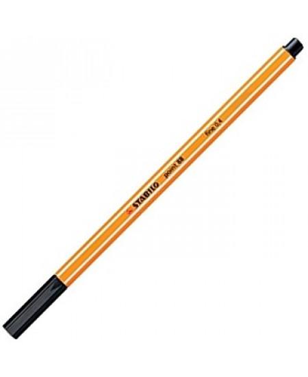 Caneta Point 88 Stabilo 0.4mm 46 Preto