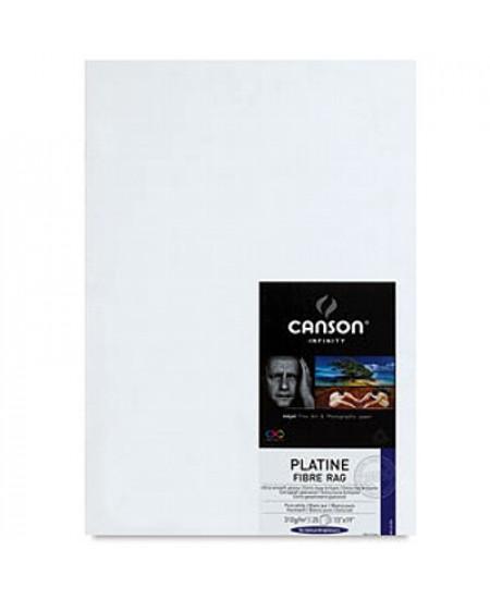 Papel Impressão Fine Art Platine Fibre Rag 310g/m² A2 25 Fl