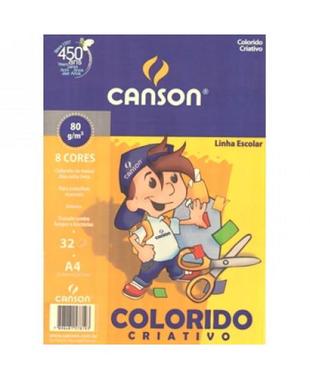 Papel Colorido Criativo Canson 80 g/m²  A4