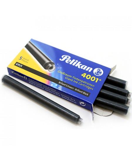 Carga Para Caneta Tinteiro Preto Pelikan 4001 GTP/5