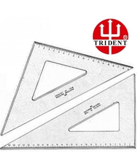 Jogo de Esquadros Trident com escala 45º e 60º 1521/1621 21cm