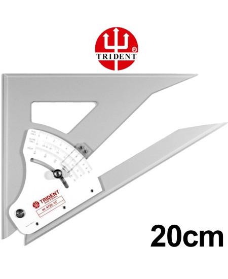 Esquadro Ajustável com Transferidor 20cm 4720 Trident