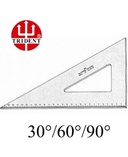 Esquadro Trident com escala 60º 1616 16cm