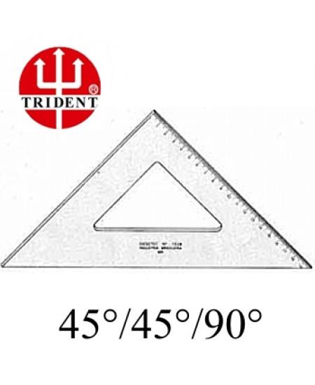 Esquadro Trident com escala 45º 1528 28cm