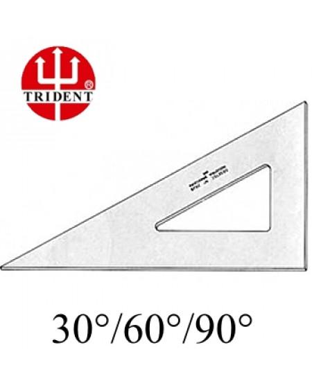 Esquadro Trident sem escala 60º 2612 12cm