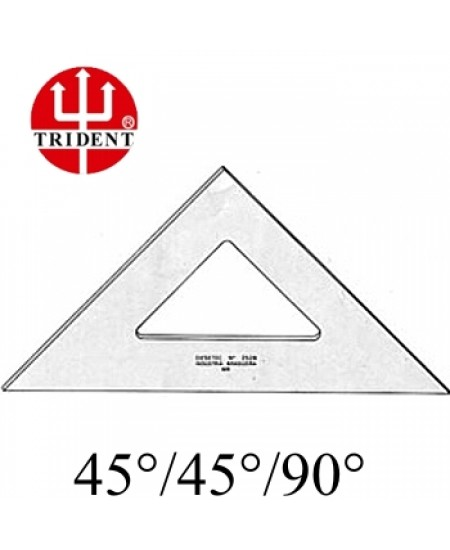 Esquadro Trident sem escala 45º 2512 12cm