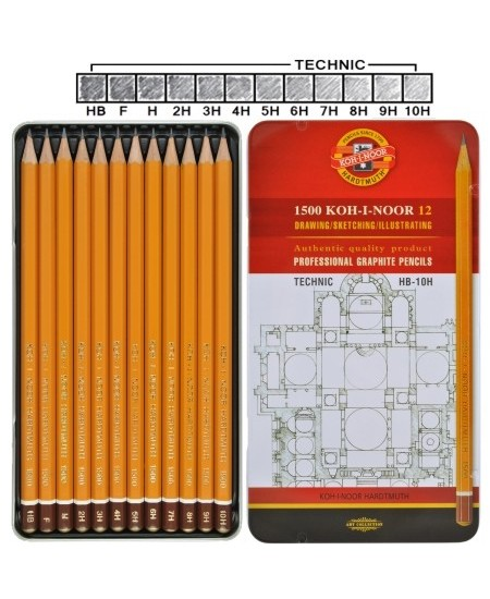 Estojo de Lápis Graduado Koh-I-Noor 1502 I Technic