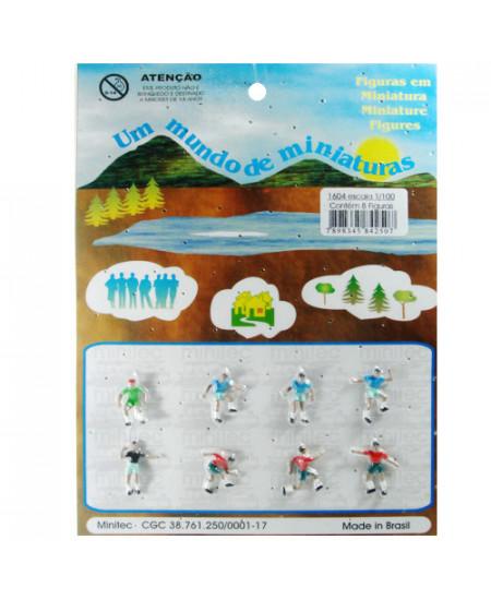 Figuras Para Maquetes 1/100 1604 Minitec 08 Peças