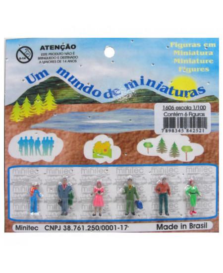Figuras Para Maquetes 1/100 1606 Minitec 06 Peças