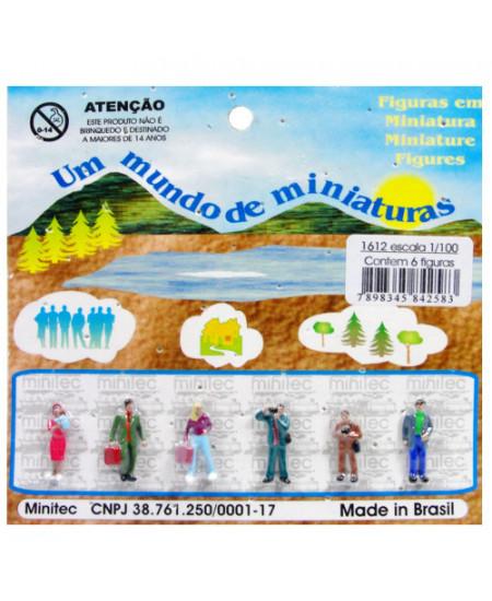 Figuras Para Maquetes 1/100 1612 Minitec 06 Peças
