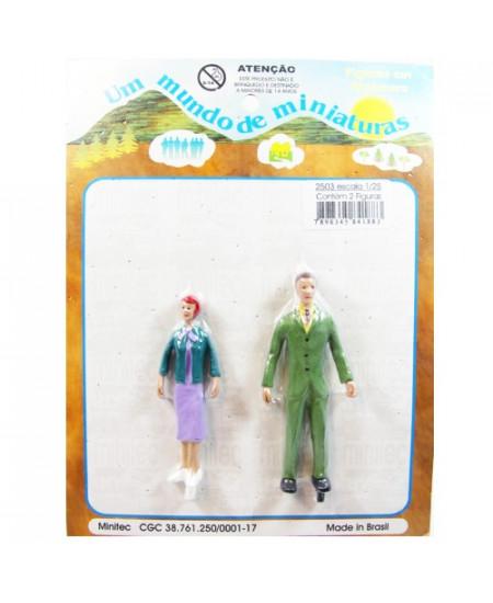 Figuras Para Maquetes 1/25 2503 Minitec 02 Peças