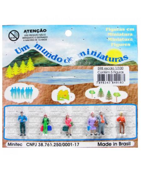 Figuras Para Maquetes 1/100 598 Minitec 05 Peças