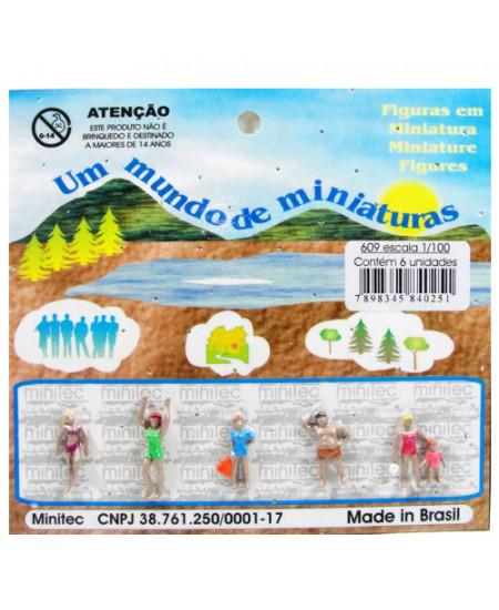 Figuras Para Maquetes 1/100 609 Minitec 06 Peças
