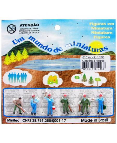 Figuras Para Maquetes 1/100 610 Minitec 06 Peças
