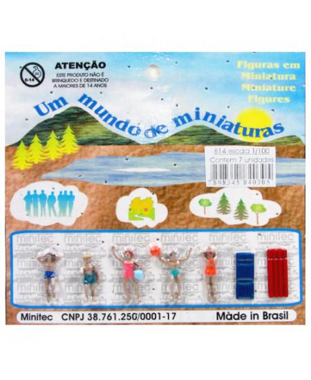 Figuras Para Maquetes 1/100 614 Minitec 07 Peças