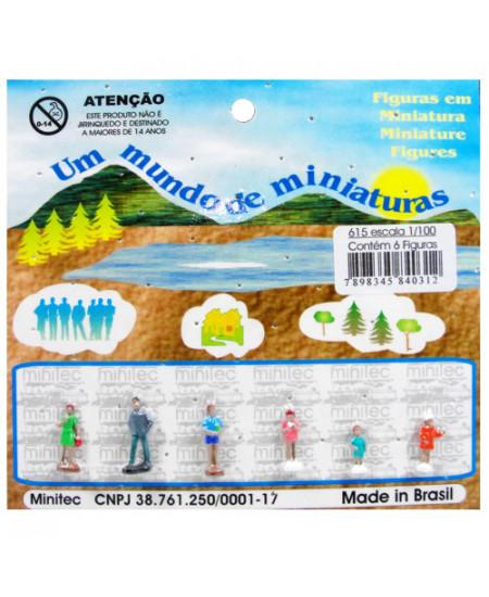 Figuras Para Maquetes 1/100 615 Minitec 06 Peças