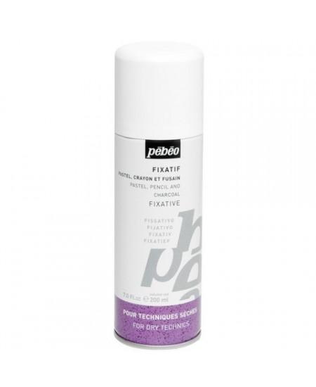 Fixador Spray Para Carvão, Pastel e Lápis Pebeo 200ml