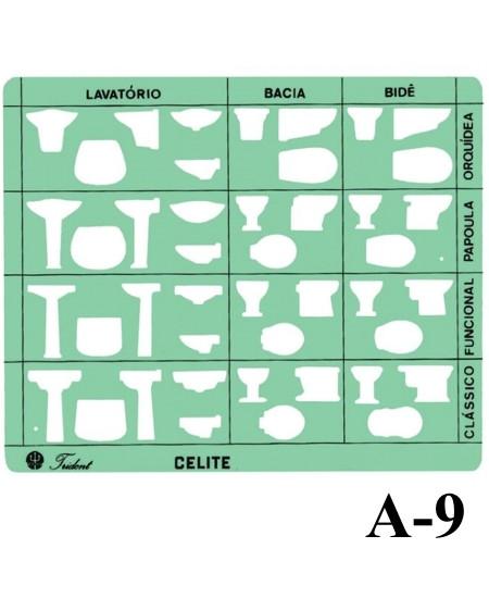 Gabarito Arquitetura A-09 Sanitários Trident