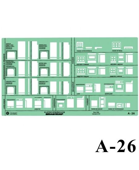 Gabarito Arquitetura A-26 Eletro Domésticos Trident